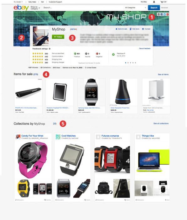 ebay profilo nuovo novita